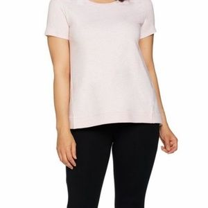 H by Halston French Terry Short Sleeve Top